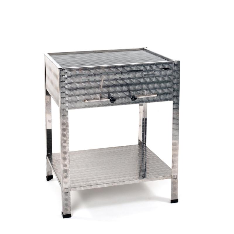 V2a edelstahl holzkohlegrill 650mm lang grilltechnik for Edelstahl holzkohlegrill