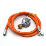 Druckminderer 50mbar und Gasschlauch 150cm UEM & RVS