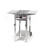 Gasgrill 4kW fahrbar + Rost + Abstellplatten