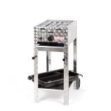 Grill/-Bräter 4kW fahrbar + Rost+Emaillepfanne