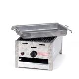 Grill/-Bräter 4kW mit Rost und Stahlpfanne