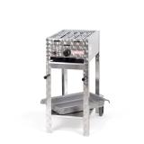 Grill/-Bräter 4kW fahrbar + Rost und Stahlpfanne