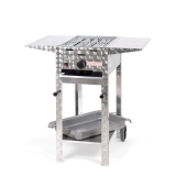 Grill/-Bräter 4kW fahrbar +Rost+Stahlpfanne+Abstellpl.