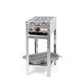 Grill/-Bräter 4kW Gestell + Rost und Stahlpfanne