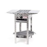 Grill/-Bräter 4kW Gestell +Rost+Stahlpfanne+Abstellpl.