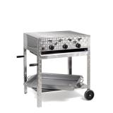 Grill/-Bräter 11kW fahrbar + Rost und Stahlpfanne