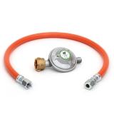 Druckminderer 50mbar und Gasschlauch 60cm UEM/SRV